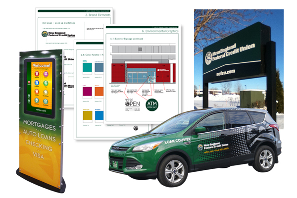 New England Federal Credit Union Environmental Graphics